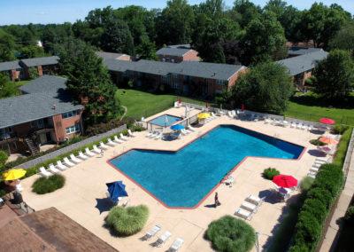 Radwyn apartments swimming pool with sundeck in Bryn Mawr, PA
