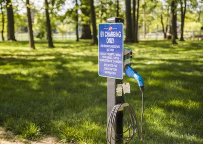 Car charging station in Bryn Mawr, PA at Radwyn apartments