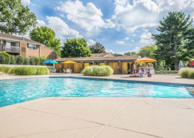 Swimming pool in Bryn Mawr, PA at Radwyn Apartments for rent
