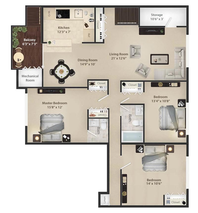 Radnor II - Floor Plan